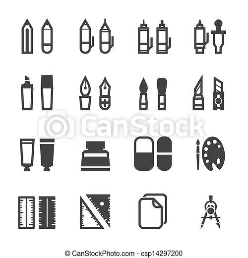 图, 绘画, 工具, 图标 - csp14297200