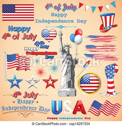 Wavy American Flag - csp14297334