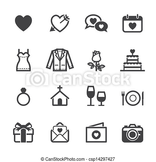 Wedding Icons and Love Icons - csp14297427