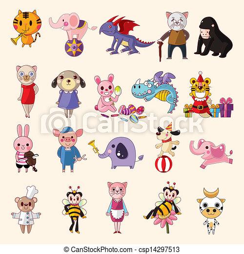 set of animal icons - csp14297513