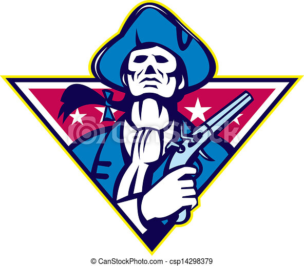 American Patriot Minuteman Flintlock Pistol - csp14298379
