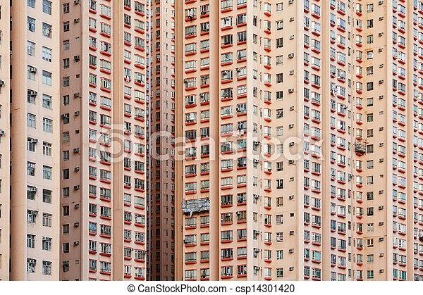 Hong Kong residential building - csp14301420