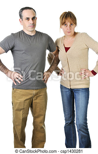 Stern parents looking angry - csp1430281