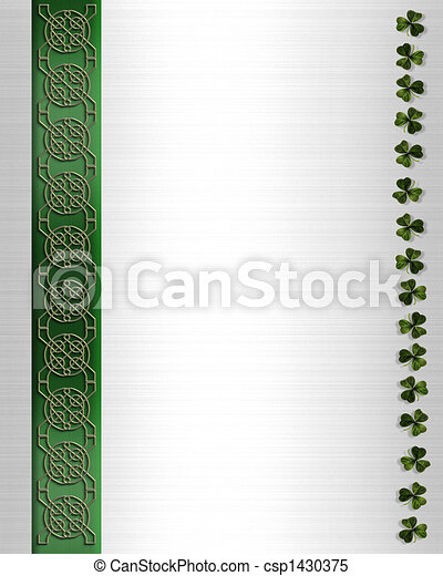 St Patricks Day Celtic Knot Border - csp1430375