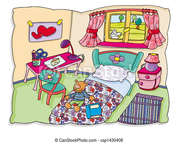 bedroom illustrations and clip art. 19,939 bedroom royalty free, Schlafzimmer entwurf