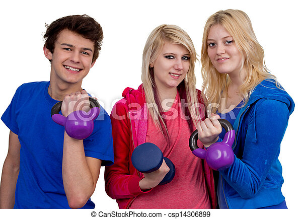 Working out together - csp14306899