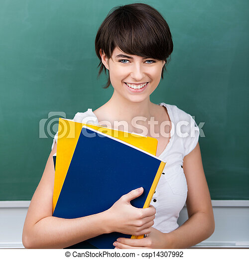 Student with note books