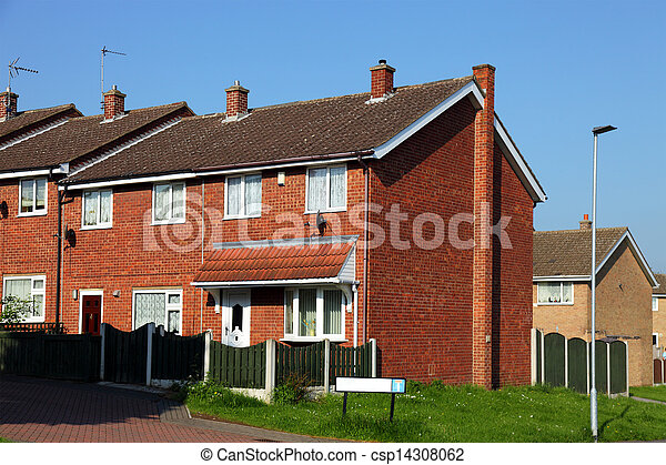 Houses on a Typical English Residential Estate  - csp14308062