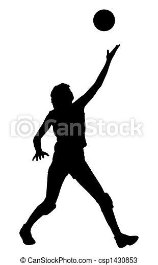 Volleyball serve - csp1430853