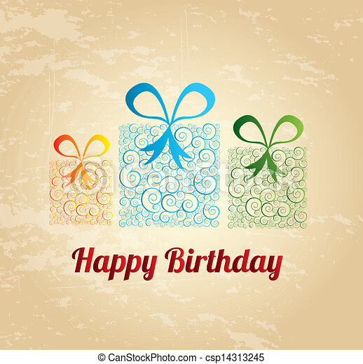 happy birthday gift - csp14313245
