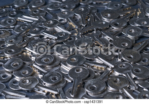 pile of keys cool - csp1431391