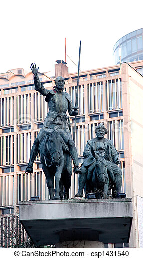 dom,  Quixote,  &,  Sancho,  Panz - csp1431540