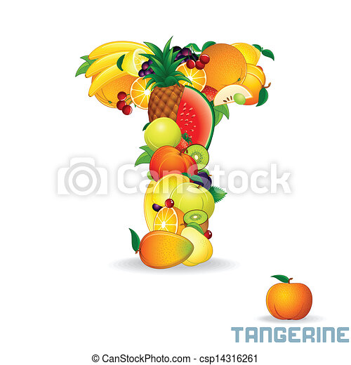 Alphabet From Fruit. Letter T - csp14316261