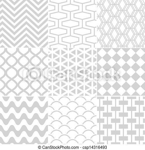 seamless white retro pattern - csp14316493