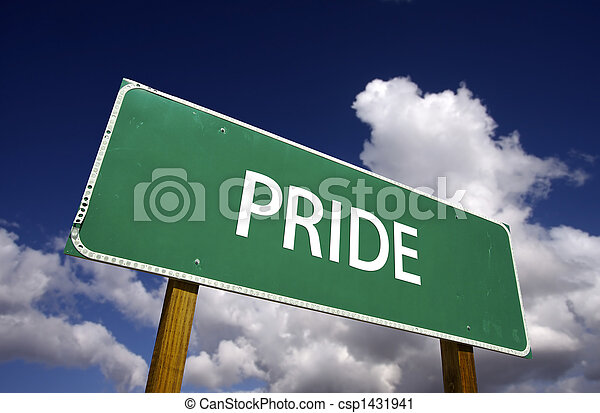 Pride Road Sign - csp1431941