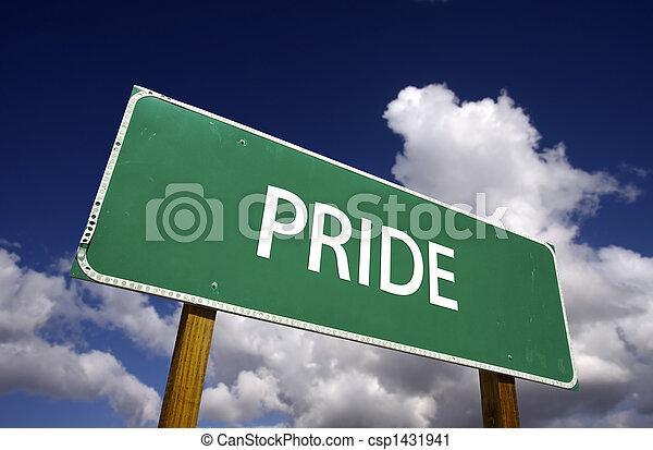 Pride Road Sign - csp1431941