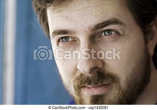 Close-up portrait of a masculine guy - csp1432081