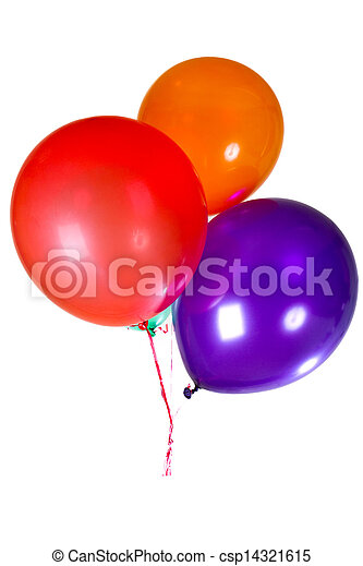 Happy Birthday party balloons decoration colorful multicolor - csp14321615