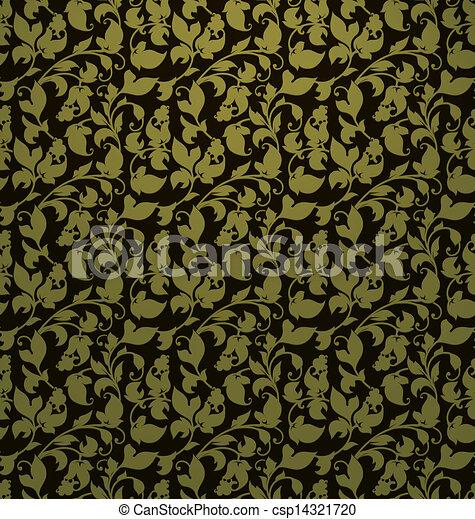 Seamless pattern vector, green - csp14321720