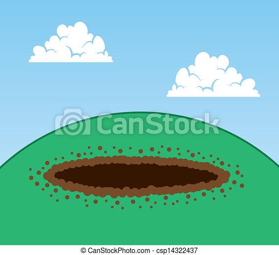 Dirt hole clipart