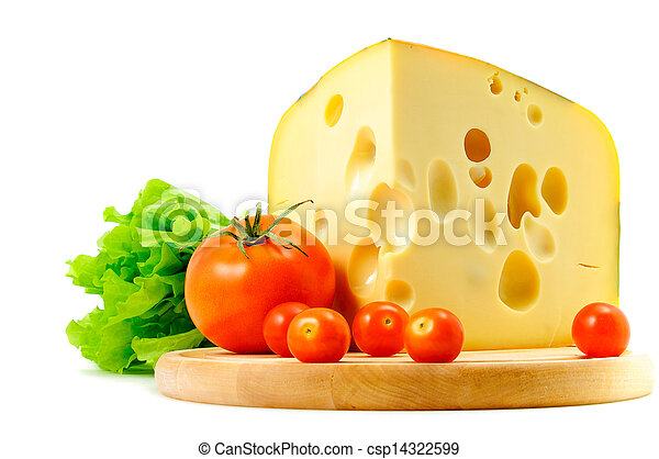 cheese, tomatoes and lettuce - csp14322599