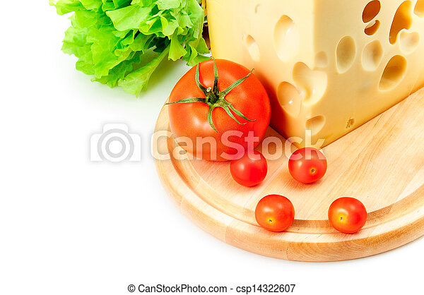 cheese, tomatoes and lettuce - csp14322607