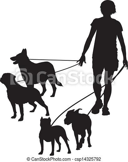 Women and dog - csp14325792