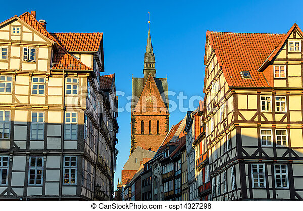 Marktkirche and old city, Hannover - csp14327298