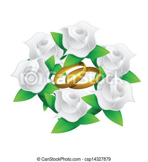 Anneaux Mariage Clipart Fleur Anneaux Mariage
