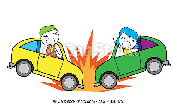 Vector illustratie van auto ongeluk csp14328379 zoek naar clipart illustratie tekeningen en - Coloriage cars accident ...