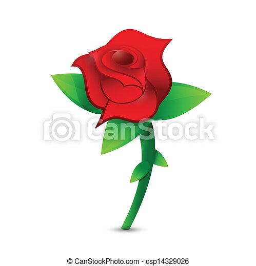 red rose illustration design - csp14329026