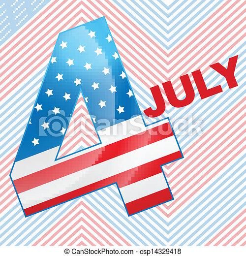 4th of july design - csp14329418