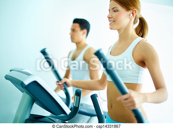 Training on sports equipment - csp14331867