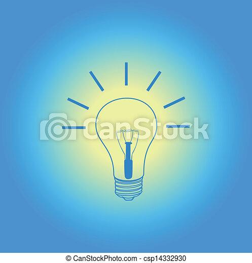 vector van licht bol idee blauwe achtergrond csp14332930 zoek naar clip art illustratie. Black Bedroom Furniture Sets. Home Design Ideas