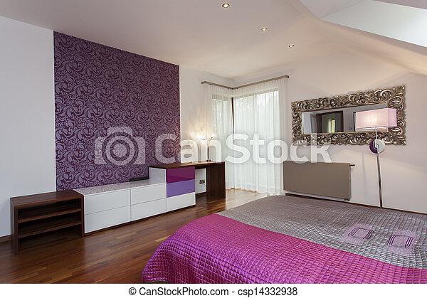 Photos de model papier peint violet chambre coucher - Papier peint de chambre a coucher ...