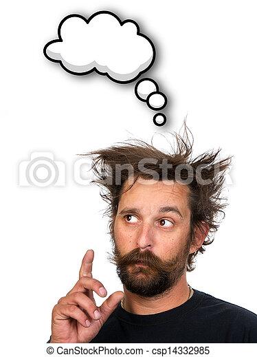 pensando, homem - csp14332985