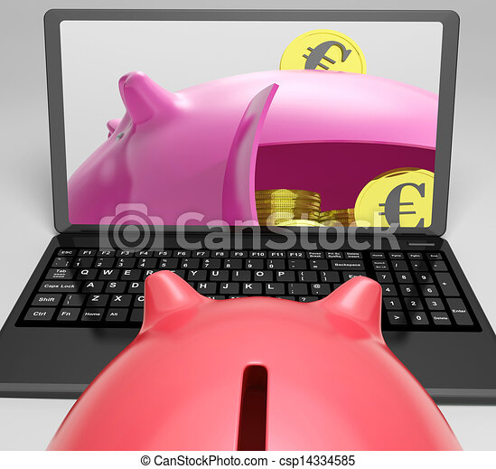 Piggy Vault With Coins Shows Banking Insurance - csp14334585