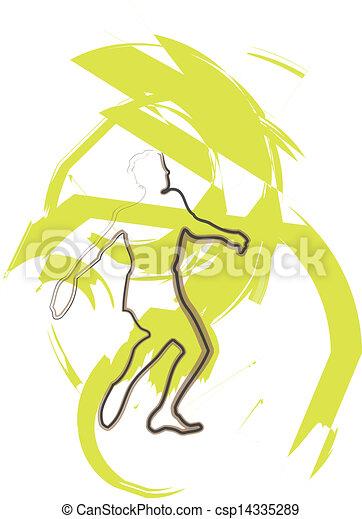 Athlete throwing the discus - csp14335289