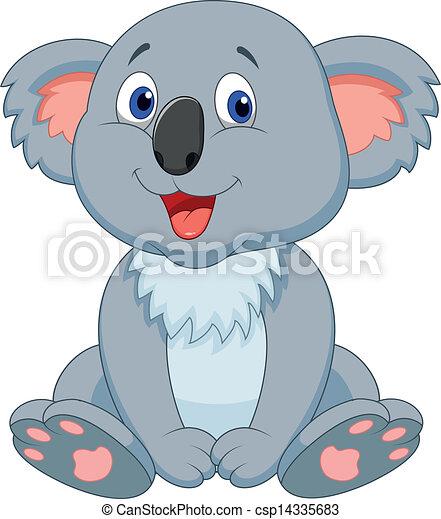 Cute koala cartoon - csp14335683