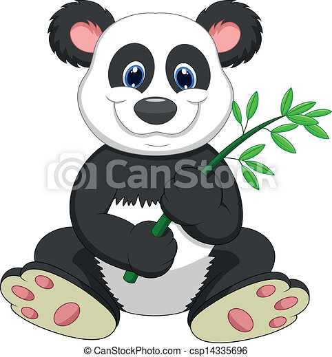 EPS vectores de gigante, panda, caricatura, comida, bambú - vector ...