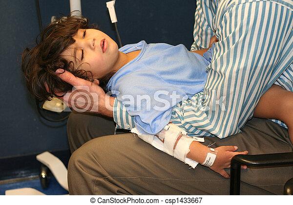 Little boy in Emergency Room - csp1433667