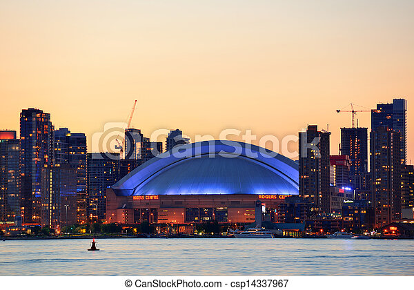 Toronto sunset - csp14337967
