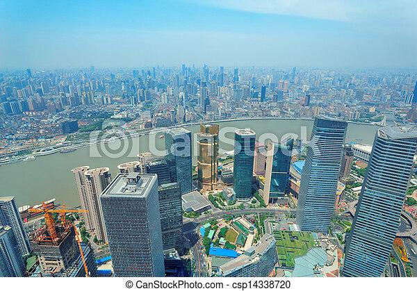 Shanghai aerial - csp14338720