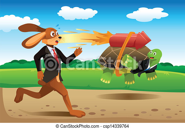 Image result for Tortoise and Hare graphic