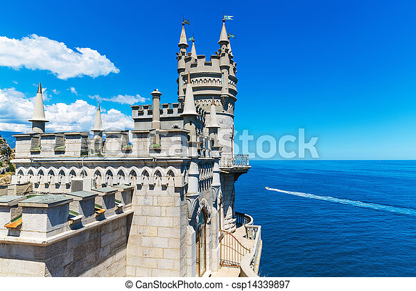 ucrania, swallow's, crimea, castillo, nido, yalta - csp14339897
