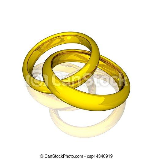 Clipart de -, Anneaux, or, mariage - mariage, -, or, Anneaux ...