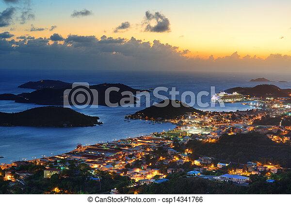 St Thomas sunset - csp14341766