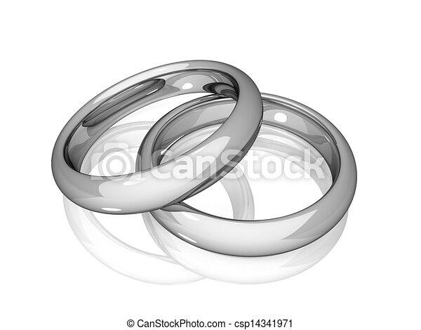 mariage, -, blanc, Doré, Anneaux csp14341971 - Recherchez des Clipart ...