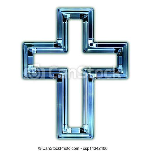 Christian cross. - csp14342408