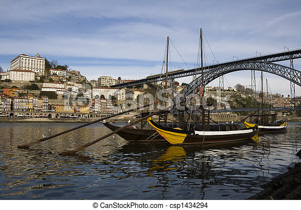 Oporto View with D. Luis Bridge - csp1434294